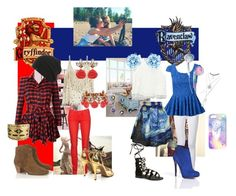 A fashion look from August 2015 featuring red dresses, lace top and see through shirt. Browse and shop related looks. Harry Potter Style, Nicholas Kirkwood, Ravenclaw, Frame Denim, Wet Seal, Jeffrey Campbell, Isabel Marant, Hogwarts, Friendship