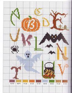 Halloween letter perler