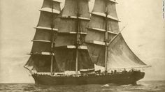 The Cutty Sark clipper gracing the sea in its late nineteenth century heyday. 143 years old & just refitted for display.