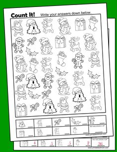 Christmas Free I Spy Printable Activity for Pre-K through 2nd grade Counting practice
