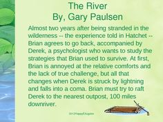 Wordsearch for The River by Gary Paulsen | The o'jays, Words and ...