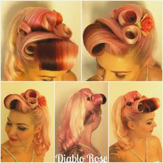Diablo Rose (yet another inspired 'do!)