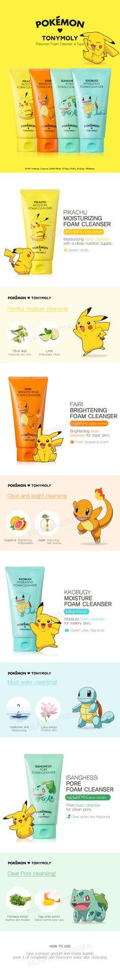 TONYMOLY Pokemon Foam Cleanser 150ml 4 Type