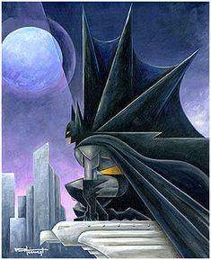 ART DECO BATMAN. I love the folds in his cape.