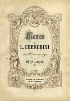 Cherubini, Luigi : Kronungs-Messe, A-dur, im Klavierauszuge von Hugo Ulrich.