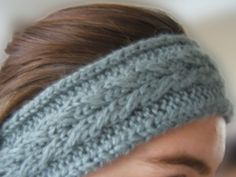 free quick knit headband patterns | Leafy Headband keeps your ears warm and your hair tidy