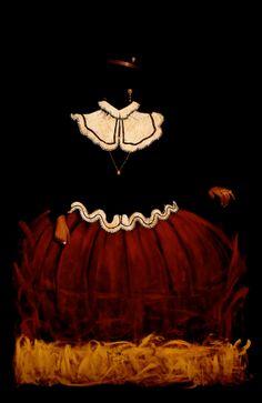 """""""Cholita de Antaño (Abstracción No.1)"""", acrílico sobre lienzo, 2012"""