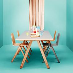 The Copenhague Dining Table was designed in the year 2013 by the brothers Erwan & Ronan Bouroullec for HAY. The Copenhague Dining Table is Wooden Dining Tables, Dining Room Table, Trestle Table, Ronan & Erwan Bouroullec, Hay Chair, Meeting Table, Danish Design, Dinner Table, Furniture Collection
