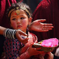 Young Newari girl at a wedding, Nepal. Thanks to Himalayan Footsteps for this stunning photo.