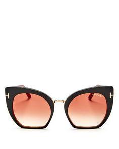 07cc1f2304 TOM FORD Oversize Cat Eye Sunglasses