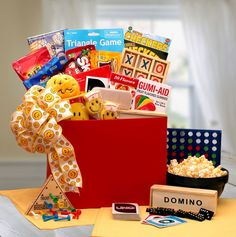 Doctors don't make house calls anymore, but you can! Send a friend who's blue this adorable gift box full of cheerful remedies and tons of smiles to turn that frown upside down! The A Smile A Day Get