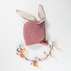 Oeuf NYC Holiday Gift Item Bunny Hat-Rose