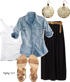 """denim"" by taytay-268 on Polyvore"