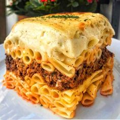 Recipe For Pastitsio, Authentic Greek Lasagna Recipe, Greek Pastitsio, Bucatini Pasta, Greek Dinners, Beef Pasta, Pasta Meals, Sweet Like Candy, Recipes