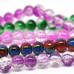 525 Crackle Perlen 8mm (5 Stränge 82cm) Zerbrochene Perlen Crash Kugel | Zerbrochene Glasperlen | Perlen |  günstig kaufen bei Bacabella.com | Perlen, Schmuck und Schmuckzubehör zum Schmuck selber machen | Schmuck basteln DIY DoItYourself | ganz individuell und einfach | Schmuckperlen