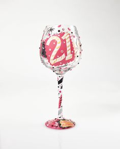 4056849 Superbling 21 Extra Large Wine Glass- A NEW 21 glass design is now featured in a Super Bling. The perfect gift for her 21st Birthday #21st #Birthday #Celebrations