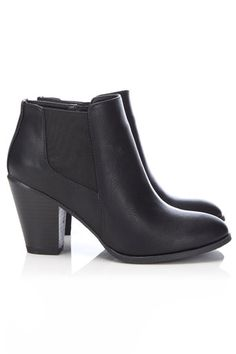 Black Side Gusset Ankle Boot