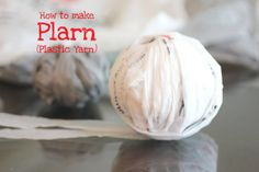 Repeat Crafter Me: How to Make Plarn (Plastic Yarn)  I am in the midst of making this... It is very simple but holy cow it's very time consuming. I would say this will be the only time I make plarn  but its a very good way to get rid of a pile of plastic bags & you can find lots of things to crochet with plarn lol!