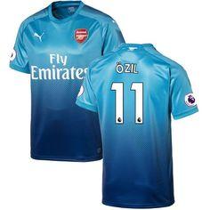 55ad8d285f0 Mesut Ozil Arsenal Puma 2017 18 Away Replica Patch Jersey - Blue -  129.99  Arsenal