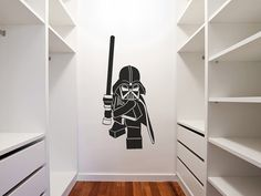 Lego Star Wars Darth Vader inspired Detailed Vinyl Wall Decal from BigLegoFan on Etsy. Saved to Wall Decals and Murals. Darth Vader Star Wars, Star Wars Clone Wars, Lego Star Wars, Star Wars Bedroom, Star Wars Nursery, Lego Bedroom, Kids Wall Decals, Wall Decal Sticker, Vinyl Decals