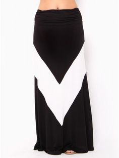 Wide #Chevron Maxi Skirt