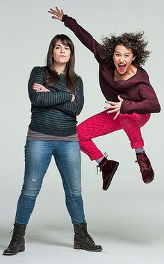 Best friends, Abbi Jacobson & Llana Glazer of cult fame from their web series turned TV show on Comedy Central.