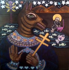 Angels and Icons Series: Cynocephalus Dog Headed Saint Christian Religions, Caves, Working On Myself, Scooby Doo, Saints, Angels, My Arts, Creatures, Symbols