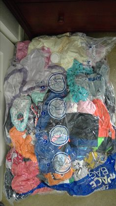 Reduce the amount of suitcases by using vacuum sealed bags!