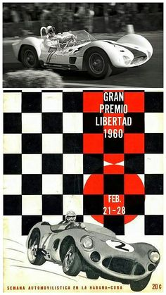 British Formula 1 superstar Stirling Moss powered a Maserati Birdcage to victory at the last Cuban Grand Prix on 28 February, 1960. Pedro Rodríguez took P2 in a Ferrari 250 TR59, ahead of P3 Masten Gregory in a Porsche 718 at the event which was held on service roads around a military airfield.