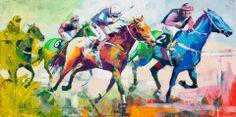Voka Spontaneous realism Watercolor Horse, Watercolor Paintings, Voka Art, Sports Painting, Abstract Portrait, Sports Art, Horse Art, Figure Painting, African Art