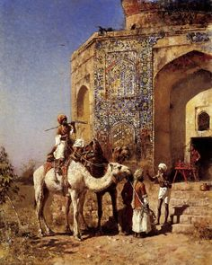 Edwin Lord Weeks - 'Old Blue Tiled Mosque Outside Of Delhi India'