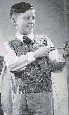 1940's Boys Basketweave Sleeveless or Sleeved by CreeksideCharms