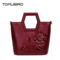 (173.61$)  Know more - http://ai0m7.worlditems.win/all/product.php?id=32802358032 - Tomubird(Tomubird)  2017 new Chinese limelight cowhide hand bag Original embossed craft retro handbag