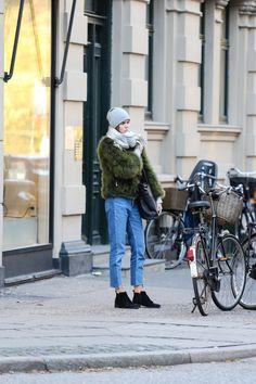 Street style at the Copenhagen Film Festival.