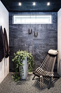 Decorated bathrooms: 100 ideas with decoration trends - Home Fashion Trend Spa Room Decor, Sauna Design, Outdoor Sauna, Mid Century Modern Lighting, Spa Rooms, Bathroom Spa, Small Bathroom, Decorating With Pictures, Home Comforts