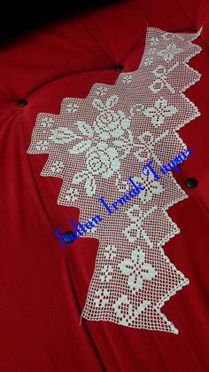 Sultan Irmak Tüysüz pike kenar dantel Crochet Books, Crochet Art, Filet Crochet, Crochet Doilies, Crochet Edging Patterns, Crochet Designs, Crochet Curtains, Crotchet, Handicraft