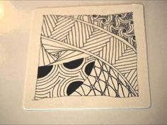 Zentangle in Motion- a video tutorial for drawing zentangle doodles