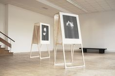 I love these elegant easels for use in a window or store interior--especially a pop-up!