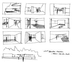 Barcelona Pavilion Sketches, Adam Welker - Google Search