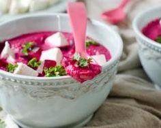 Velouté froid minute de betterave au yaourt Croq'Kilos : http://www.fourchette-et-bikini.fr/recettes/recettes-minceur/veloute-froid-minute-de-betterave-au-yaourt-croqkilos.html