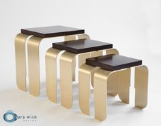 Chiavi Nesting Tables by Sara Wise Design http://www.sarawise.com/collection/