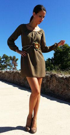 Vestido verde corto http://probandoropa.com/es/vestidos/vestido-verde-corto-1