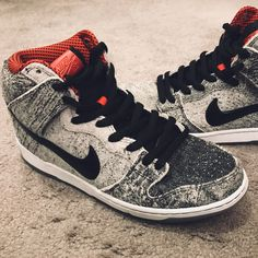 best loved 3fcd7 cce59 Nike Shoes   Nike Dunk Sb High Salt Stain Size 10.5 Like New!   Color  Gray    Size  10.5