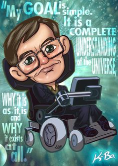 To go with my Carl Sagan and Neil deGrasse Tyson cards. Stephen Hawking Art Card by K-Bo. Science Jokes, Science Fair, Science And Nature, Stephan Hawkings, Deviantart Comic, Motivational Videos For Success, Create T Shirt, Drawing S, Astronomy