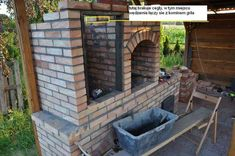 grillo wędzarnia projekt by buc Outdoor Bbq Kitchen, Outdoor Barbeque, Pizza Oven Outdoor, Bbq Grill Diy, Barbecue, Grilling, Outdoor Smoker, Stone Bbq, Brick Bbq