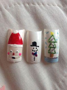 Christmas.. Santa, snowman and a Christmas tree