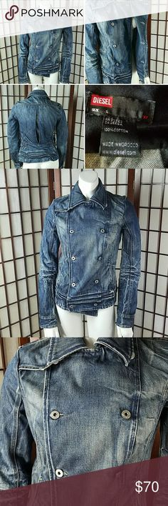 2db6157b2b4f61 Cotton DIESEL DENIM JEANS JACKET Pre-owned gently worn no issues DIESEL  SIZE SMALL Denim