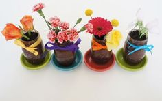 Edible Flower Cake  Great for Mother's Day or just a fun Springtime project!