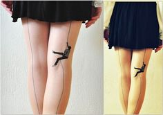 This is a tattoo, but how cool would it be if there were TIGHTS that looked like this???