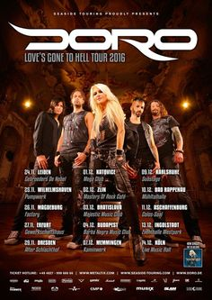 """awesome Doro – Neue Single """"Love's gone to hell"""" erscheint am 01.04.2016"""